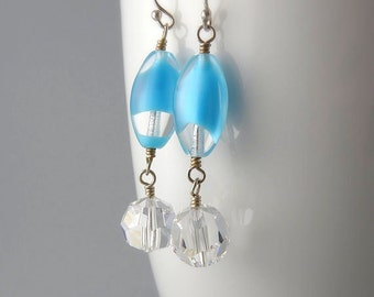 Clear Blue Sky Earrings with Free USA Shipping