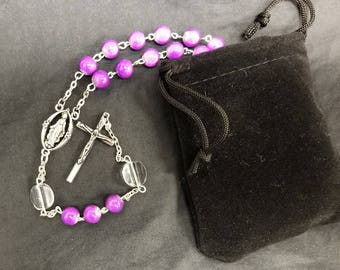 Royal Purple Catholic Rosary