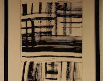 Ink Painting by Marjorie Duryee, 1974