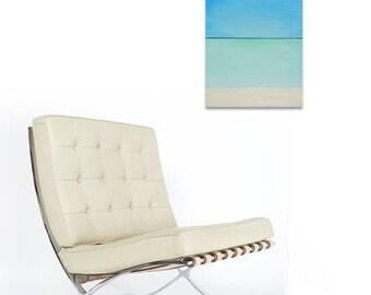 Rothko in the Caribbean. Mid-century modern painting. Modernist painting. Mark Rothko inspired painting. Abstract Caribbean seascape.