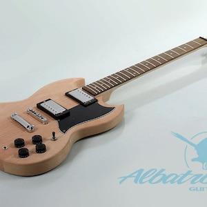 DIY Mahogany Guitar Kit Set In Solid Mahogany Body and Neck GK005