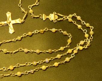 Handmade Gemstone & Sterling Silver Communion Rosary