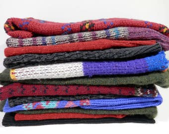 2 lb Knit Sweater Fabric Box Lot Remnant Assortment Print Destash Project Making Bundle DIY Quilter Sewer Stash Quilt Do It Yourself Sewing