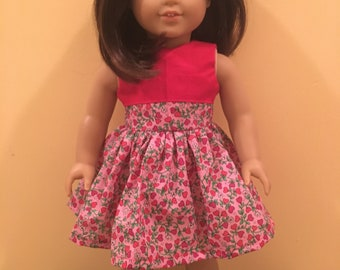 Red Hearts Dress (Fits 18-inch Dolls)