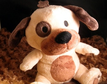 Puppy Squeaker Toy & Blanket - Cuddle Critter Puppy - Puppy Toy and Blanket - Includes Embroidered Personalization