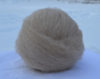 """Mioget/Golden Brown Undyed Shetland Roving / 4oz ball from """"Mabel"""""""
