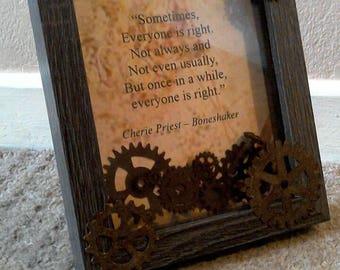 Box framed mixed media Steampunk quote Cherie Priest Boneshaker