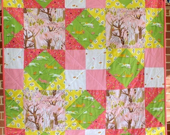Tiger Lily Cot Quilt
