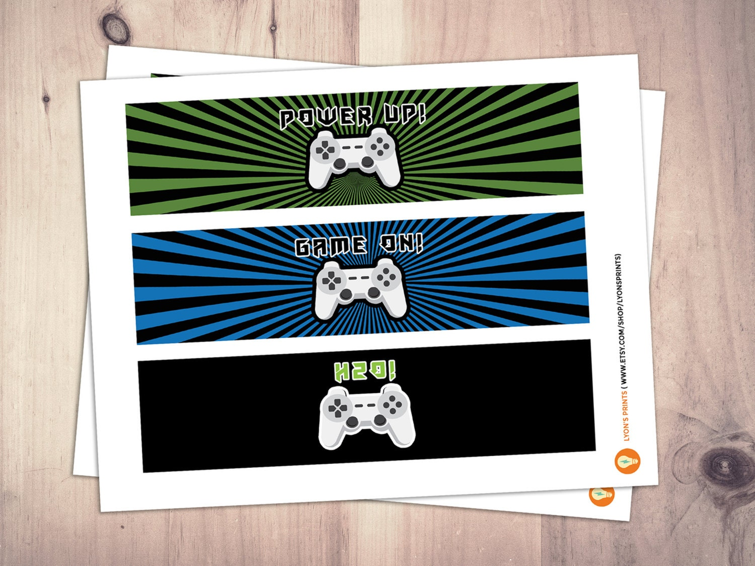 Video Game water label | Game Truck Party | Video Game Party Favor ...