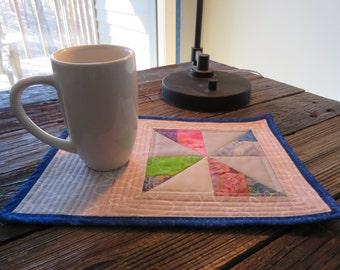 Pinwheel Quilted Mug Rug