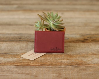 Personalized Business Card Holder, Custom Business Card Holder, Engraved Business Card Holder, Leather Business Card Holder --BCH-RS-G