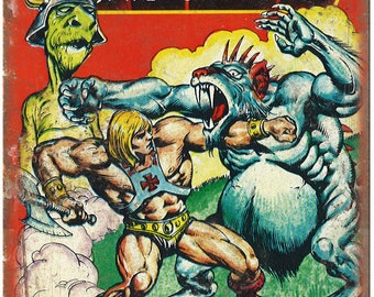 """Masters of The Universe He Man Dragons Gift 10"""" x 7"""" Reproduction Metal Sign J08"""