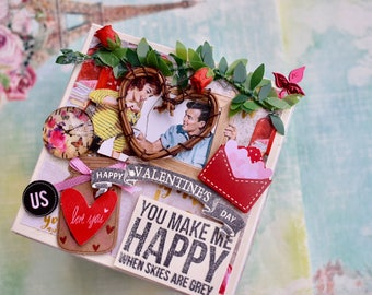 Valentine's day - Explosion box for him/her