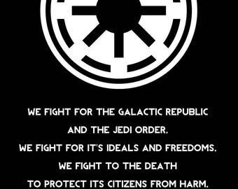 Star Wars Galactic Republic Clone Trooper Code 11x17
