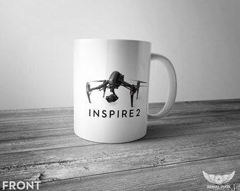 DJI Inspire 2 - 11oz Coffee Mug for Aerial Photographers and Drone Pilots
