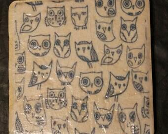Owl Tile Coasters
