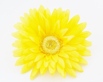 Yellow Gerbera Daisy | Artificial Daisy | Flower Crown | Wedding Daisy | Millinery Flowers | Hair Accessory | Large Daisy | The Blue Hutch