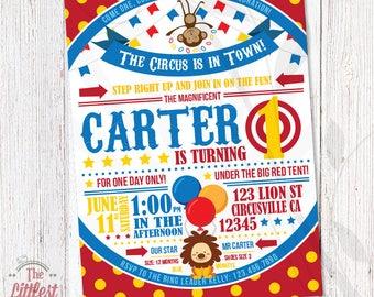 Circus Ball Invitation - Birthday Invite  - DIGITAL FILE