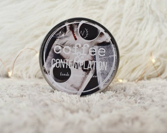 Coffee and Contemplation 4oz Soy Bookish Candle | Coffee Scented Candle | Bookish Gift