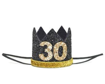 Adult Birthday  30th Birthday For Her   30th Birthday Crown   30 Birthday Party Hat   Dirty 30   Adult Party Hat Crown