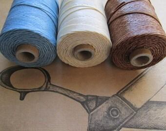 Spool of Four Ply linen, Choose color, 4 ply Spool or Spools of Linen, Four Ply, Waxed Irish Linen, Irish Linen, Linen thread, linen cord