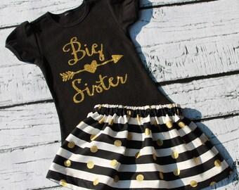 Big sister outfit, big sister shirt, big sis shirt, big sister announcement, big sister little sister outfits, big sister little brother