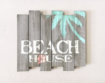 Beach decor Beach House sign Nautical Wooden Distressed by SEASTYLE