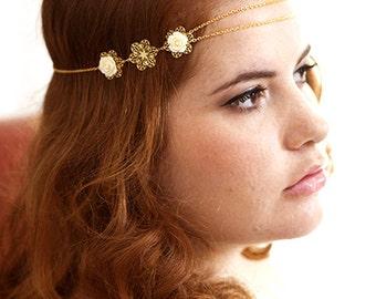 Wedding headband Joséphine - Wedding headband - bridal Headband - Bridal headpieces - wedding - bridal hair accessories