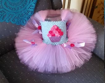 Birthday Cupcake Costume Flower Girl Tutu Dress