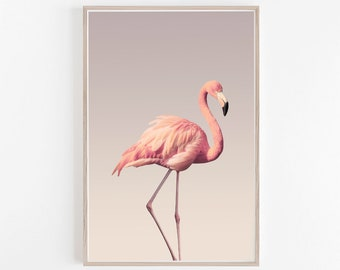 Flamingo Print,Flamingo,Tropical,Wall Art,Pink,Instant Download,Wall Decor,Flamingo Art,Printable Flamingo,Large Wall Art,Flamingo Poster