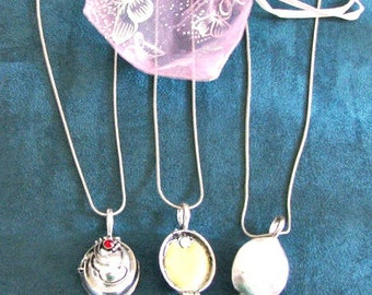 SILVER VAMPIRE TALISMAN Esther / Elana's Necklace Solid Perfume Amulet filled with Sunrise Perfume by Strange Karma