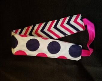 Polka Dot and Chevron Reversible Headband