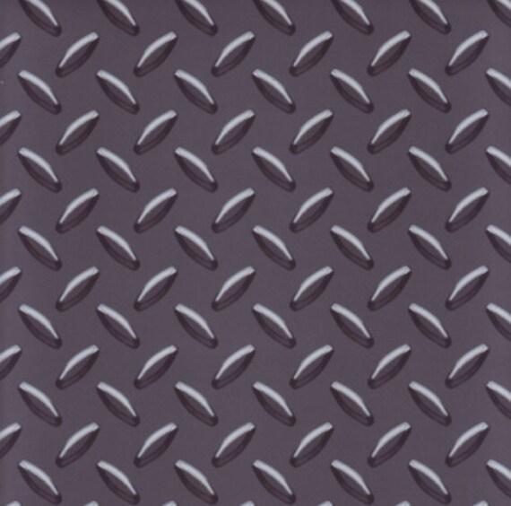 🔎zoom  sc 1 st  Etsy & Charcoal Gray Diamond Plate Wallpaper Mancave Boys Decor