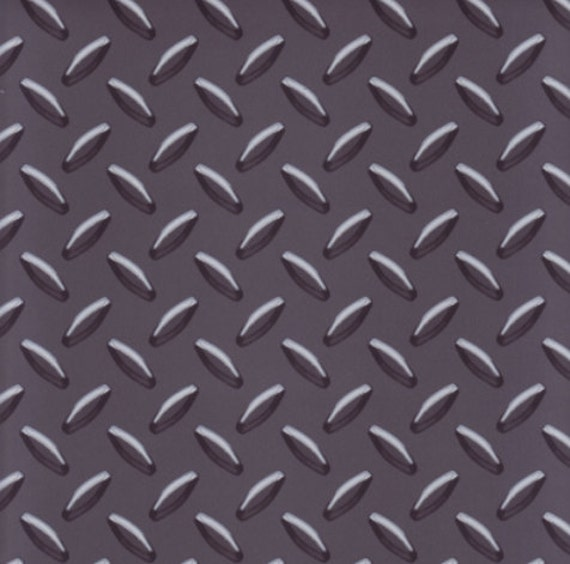 ?zoom  sc 1 st  Etsy & Charcoal Gray Diamond Plate Wallpaper Mancave Boys Decor