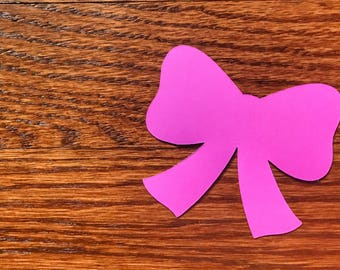 15 Large 3 inch or 4 inch Bow Die Cuts - Bow Cut Outs