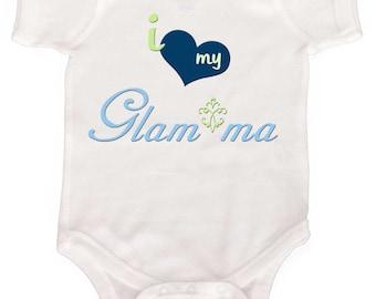 Funny Baby Boy Bodysuit For new Grandmas I Love my Glam ma Newborn Rompers to Kids Tees