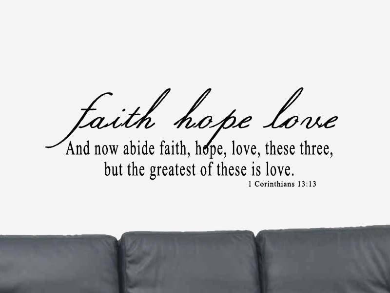 Quotes Of Love From The Bible Captivating 1 Corinthians 1313 Wall Decal Bible Verse Wall Decal