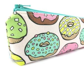 Large Donuts Pencil Case - Pencil Pouch - Zip Pouch - Small Bag - Zipper Pouch - Planner Pencil Case Organiser