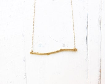 Gold Branch Necklace, Silver Branch Necklace, Gold Twig Necklace, Tree Branch Necklace, Nature Necklace, Dainty Necklace, Nature Lover Gift