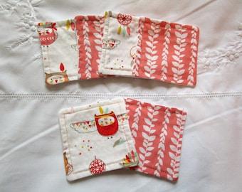 Set of 6 washable wipes