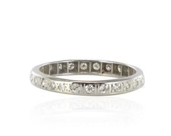 Bague alliance platine diamants Platine Vintage  Moderne  Classique