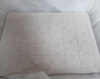 A4 Blank Jigsaw Puzzle