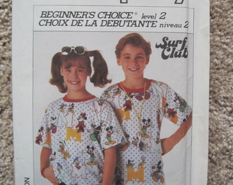 UNCUT Boys and Girls Loose-Fitting Knit T-Shirt - Size Large - Simplicity Sewing Pattern 7968
