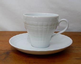 Vintage Hutchenreuther Tea Coffee Set, White Lucina, 5 sets
