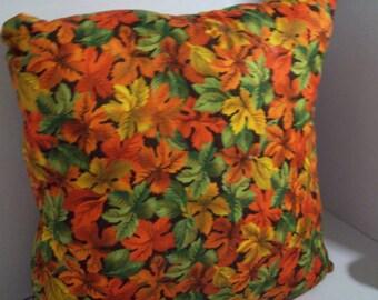 Autumn/Fall multi colored decorative leaf pillow/ housewarming/ color pallet