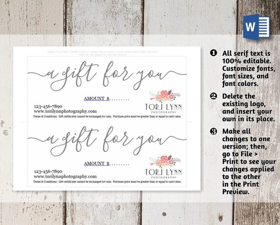 Printable gift certificate gift card template simple rustic printable gift certificate gift card template simple rustic kraft paper editable pdf instant download business envelope 10 9 printed yadclub Image collections