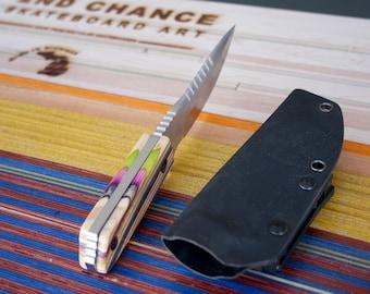 Recycled Skateboard Hunting Knife