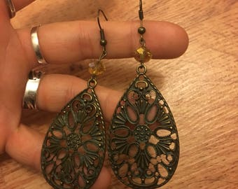 Rustic Teardrop Earrings