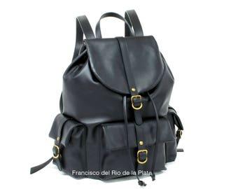 Zaino in pelle, backpack genuine leather