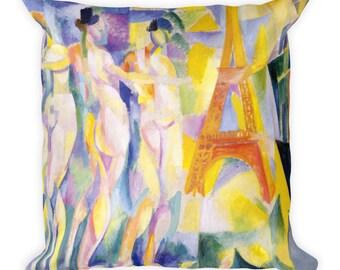 La ville de Paris by Robert Delaunay, Art Print 18-Inch Square Throw Pillow